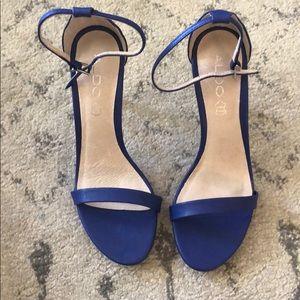 Brand new Aldo blue sandal heels